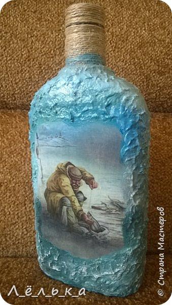 Всем привет. Сотворилась у меня по поводу вот такая бутылочка. Вдохновила меня Юлия http://stranamasterov.ru/node/1057036 за что ей огромнейшее спасибо!!!! фото 7