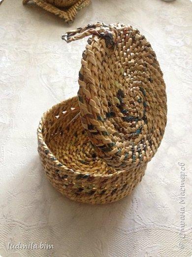 хлебница в традиционном плетении веревочкой фото 5
