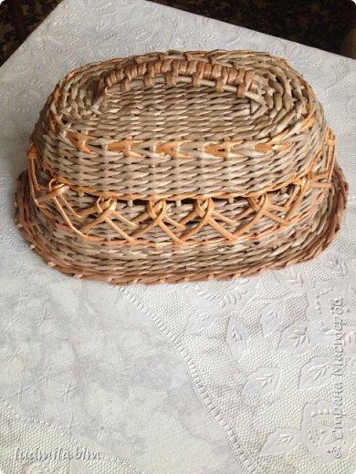 хлебница в традиционном плетении веревочкой фото 1