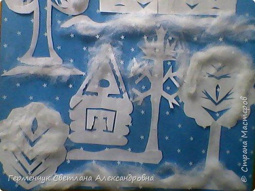 """Вырезание  из бумаги """"Зимний вечер"""" фото 3"""