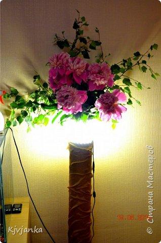 Напольная ваза-светильник