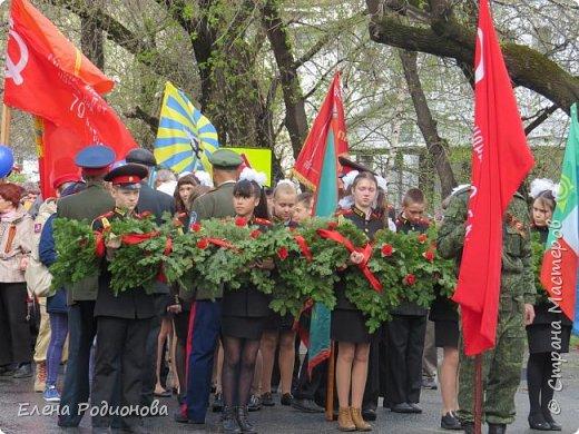 Я хочу рассказать, как прошло праздничное шествие, посвящённое 72-ой годовщине со Дня Победы, в нашем небольшом городе Абаза на юге Хакасии. фото 5