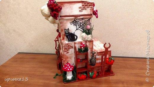 Добрый день Страна мастеров.Много писать не буду.Чайный домик предназначен в подарок замечательному человеку. фото 9