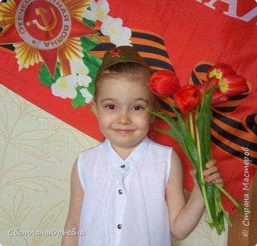 9 мая 2017 года. Урррраааа!!!! Внучка Варенька поздравляет всех с Праздником Великой Победы! фото 1
