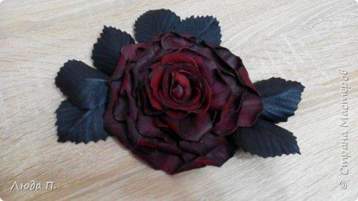 Роза из кожи фото 2