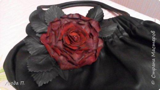Роза из кожи фото 3
