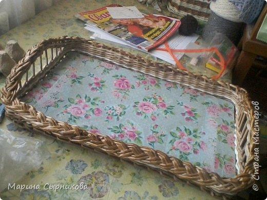 Плету я немного, но зато для пользы дела ;) Вот такая вазочка-корзиночка на стол. фото 6