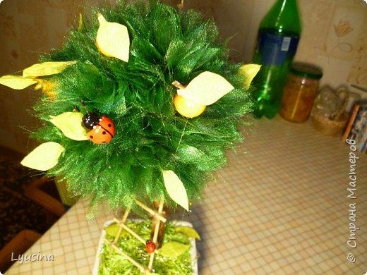 Это дерево - моя первая достаточно крупная и серьезная поделка, делала его для ребёнка в детский сад на день Осени. фото 1
