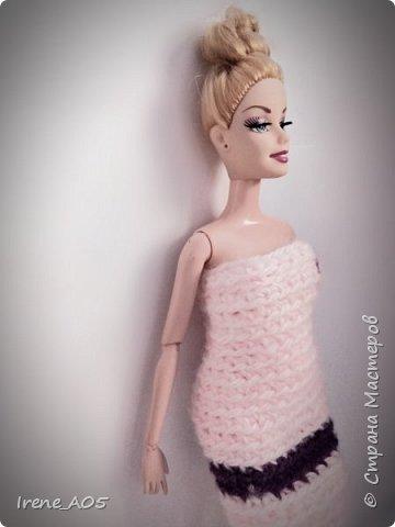 Привет! Оставалось у меня немного пряжи, и получилось простое платье.  фото 1