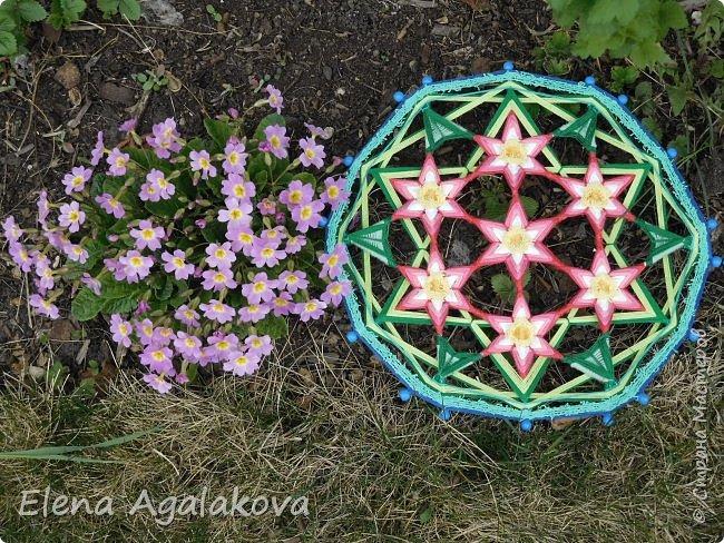 Добрый день или вечер всем заглянувшим в гости! Весна в разгаре, время цветения и расцвета! Поэтому наверное сплелась у меня такая мандала «Цветок жизни». Семь цветков объединены в один. Семь - одно из самых удивительных чисел. Таинственное число семь! Каким его только не считают: и священным, и божественным, и магическим, и счастливым. Все народы мира уделяли числу семь особое внимание.  фото 3