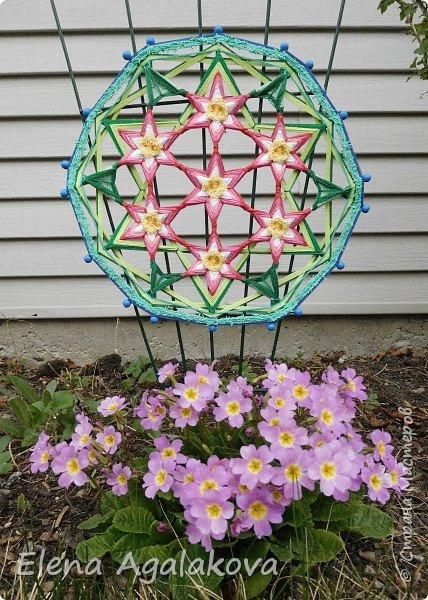Добрый день или вечер всем заглянувшим в гости! Весна в разгаре, время цветения и расцвета! Поэтому наверное сплелась у меня такая мандала «Цветок жизни». Семь цветков объединены в один. Семь - одно из самых удивительных чисел. Таинственное число семь! Каким его только не считают: и священным, и божественным, и магическим, и счастливым. Все народы мира уделяли числу семь особое внимание.  фото 5