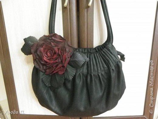 Роза из кожи фото 4