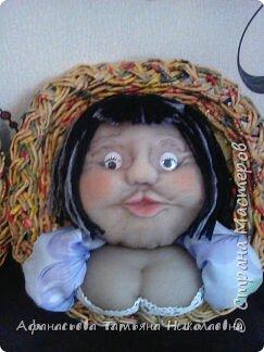 Здравствуйте все! Вот решила поделиться моим новым увлечением-куклами...Это портреты хозяина и хозяйки дома...основу сплела из бумаги... фото 3