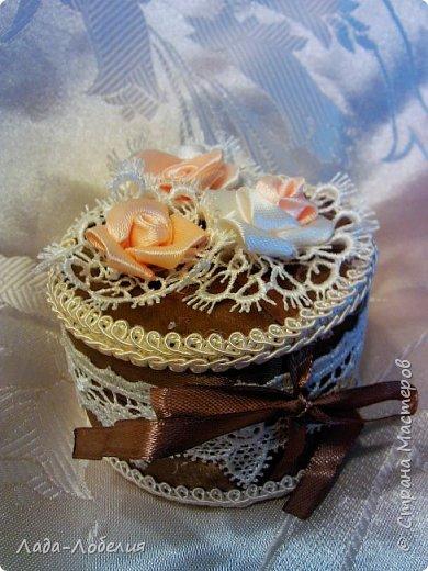 Маленькая шкатулочка - упаковка для маленького подарка.Завязка ленточка. фото 1