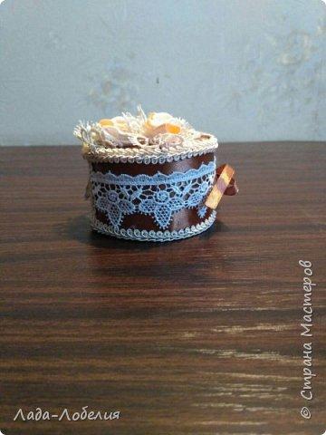 Маленькая шкатулочка - упаковка для маленького подарка.Завязка ленточка. фото 3