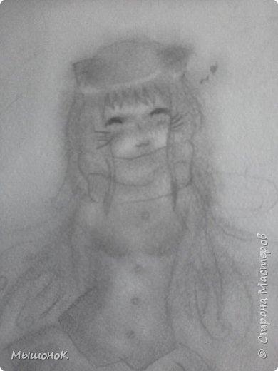 Приветик, няшки! :3  Сегодня покажу несколько рисунков аниме)))  Сразу говорю, что получилось плоховато(   Итак, первый рисунок - Силика со своим дракончиком Пиной из аниме SAO. Выполнена простым карандашом.  фото 7