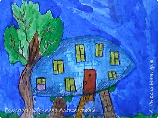 """Сегодня на уроке  ИЗО мои ребята  фантазировали на тему """"Дома  будущего"""" Ребята """"построили """" вот такие  чудо- домики. Дом- гитара, фото 6"""