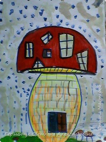"""Сегодня на уроке  ИЗО мои ребята  фантазировали на тему """"Дома  будущего"""" Ребята """"построили """" вот такие  чудо- домики. Дом- гитара, фото 7"""