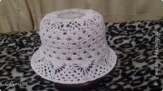 Шляпка на лето...первый опыт....строго не судите...я учусь. фото 2