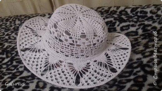Шляпка на лето...первый опыт....строго не судите...я учусь. фото 1