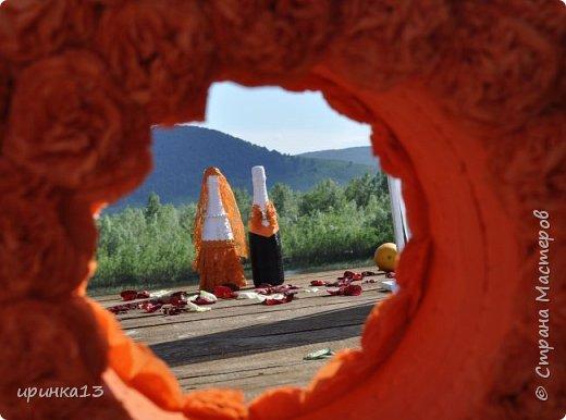 Добрый вечер Страна Мастеров.Собралась моя сестра замуж)))И решила что хочет оранжевую свадьбу))))И мы ей в помощь)))) фото 9