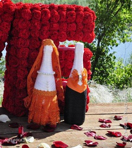 Добрый вечер Страна Мастеров.Собралась моя сестра замуж)))И решила что хочет оранжевую свадьбу))))И мы ей в помощь)))) фото 7