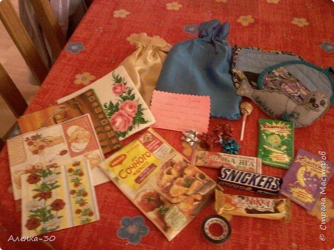 Добрый день девочки! Получила я подарочек от Оксаночки  http://stranamasterov.ru/user/216554 и теперь набираю девочек которых одарю я!  Игра почти тоже самое,что и ПИФ,но...  1)Выбираем у меня в блоге себе подарок,пишите о своём желании в ком-ях!  2)Далее мастер(то есть Я) записывают вас в список!  Сроки изготовления 3недели со дня записи желания  3) Дополнение по желанию дарителя  4) Только по России  5) 18+ фото 2