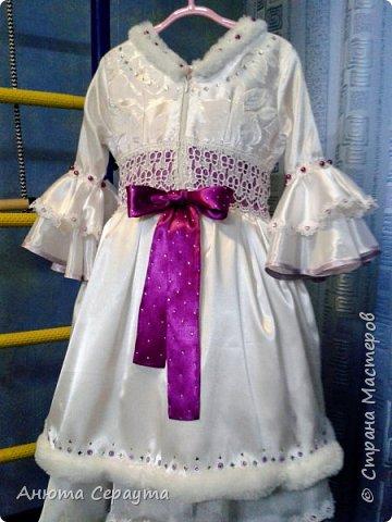 """Здравствуйте, творческие жители страны! Этот костюм я сделала для племянницы, девочки 6 лет, на новогодний карнавал. И даже сейчас, когда праздники давно закончились, Анечка просит маму достать ей это платье, что бы """"поиграть в королеву""""! фото 2"""