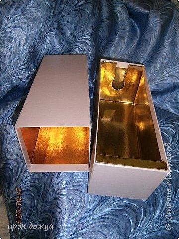 Всем здравствуйте.Сегодня я с переделкой коробки из под напитка в шкатулку для мелочей. фото 3