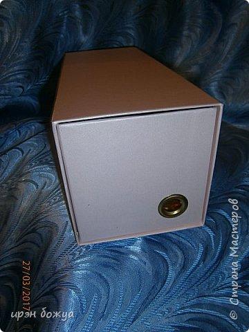 Всем здравствуйте.Сегодня я с переделкой коробки из под напитка в шкатулку для мелочей. фото 4