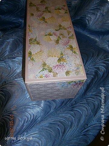 Всем здравствуйте.Сегодня я с переделкой коробки из под напитка в шкатулку для мелочей. фото 5