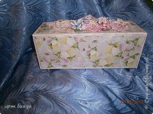 Всем здравствуйте.Сегодня я с переделкой коробки из под напитка в шкатулку для мелочей. фото 17