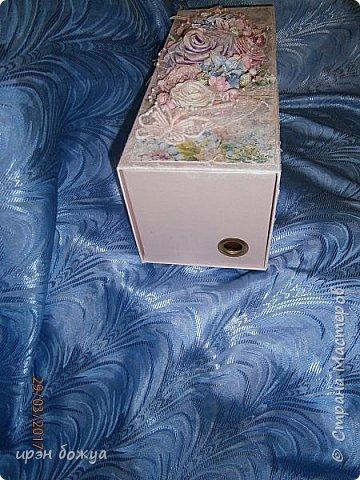 Всем здравствуйте.Сегодня я с переделкой коробки из под напитка в шкатулку для мелочей. фото 16