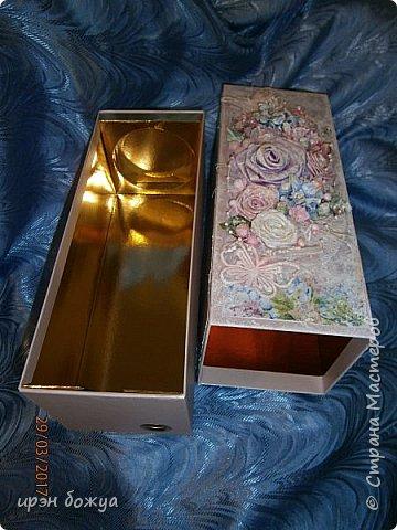 Всем здравствуйте.Сегодня я с переделкой коробки из под напитка в шкатулку для мелочей. фото 1