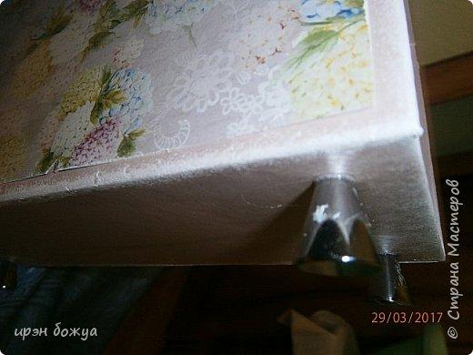 Всем здравствуйте.Сегодня я с переделкой коробки из под напитка в шкатулку для мелочей. фото 9