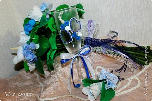 Добрый день! Готовлюсь к свадьбе брата,в процессе работы еще второй бокал,шампанское и свечи...... Но уже не терпелось показать вам,что у меня выходит  фото 6