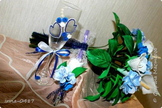 Добрый день! Готовлюсь к свадьбе брата,в процессе работы еще второй бокал,шампанское и свечи...... Но уже не терпелось показать вам,что у меня выходит  фото 2