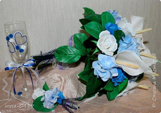 Добрый день! Готовлюсь к свадьбе брата,в процессе работы еще второй бокал,шампанское и свечи...... Но уже не терпелось показать вам,что у меня выходит  фото 5