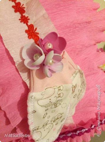 Вот такая люлька из пампесовв подарок  для долгожданной малышки у меня получилась фото 3
