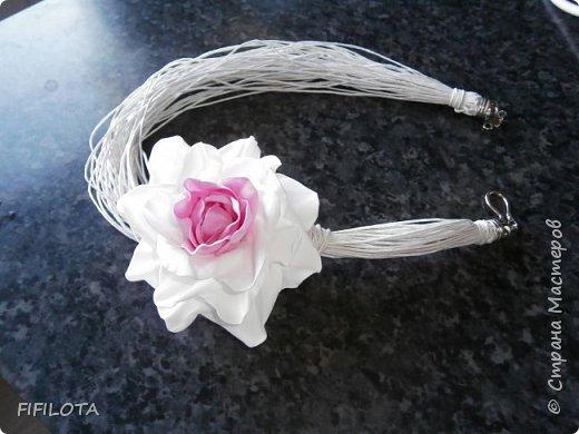 колие с цветочек из фоамирана фото 2