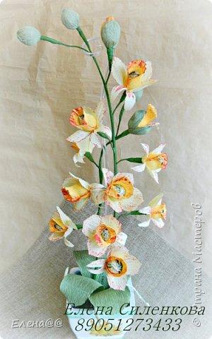 Этот блог с работами  посвященными в основном 8 марта... Корзинка нарциссы с тюльпанами родилась просто на одном дыхании фото 15