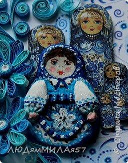 Здравствуйте всем!!!Пока вдохновение со мной творю по мотивам русских росписей.Эти открытки в цветовой палитре Гжели. фото 6