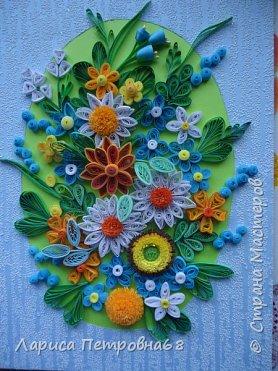 Доброе время суток жители Страны Мастеров !!!  Наступила  весна , солнышко светит  ярче , стало теплее _ и хорошее настроение у моих девочек  Показываю несколько их работ . Такую яркую ,весеннию картинку собрала Сайынова Молдер , а идею подсмотрели у Татьяны Самусевой - огромное ей спасибо за вдохновение фото 2