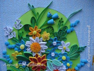 Доброе время суток жители Страны Мастеров !!!  Наступила  весна , солнышко светит  ярче , стало теплее _ и хорошее настроение у моих девочек  Показываю несколько их работ . Такую яркую ,весеннию картинку собрала Сайынова Молдер , а идею подсмотрели у Татьяны Самусевой - огромное ей спасибо за вдохновение фото 4