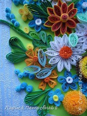 Доброе время суток жители Страны Мастеров !!!  Наступила  весна , солнышко светит  ярче , стало теплее _ и хорошее настроение у моих девочек  Показываю несколько их работ . Такую яркую ,весеннию картинку собрала Сайынова Молдер , а идею подсмотрели у Татьяны Самусевой - огромное ей спасибо за вдохновение фото 5