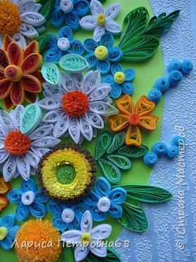 Доброе время суток жители Страны Мастеров !!!  Наступила  весна , солнышко светит  ярче , стало теплее _ и хорошее настроение у моих девочек  Показываю несколько их работ . Такую яркую ,весеннию картинку собрала Сайынова Молдер , а идею подсмотрели у Татьяны Самусевой - огромное ей спасибо за вдохновение фото 6