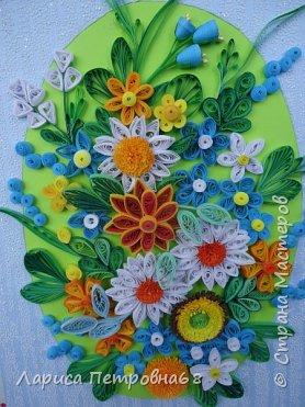 Доброе время суток жители Страны Мастеров !!!  Наступила  весна , солнышко светит  ярче , стало теплее _ и хорошее настроение у моих девочек  Показываю несколько их работ . Такую яркую ,весеннию картинку собрала Сайынова Молдер , а идею подсмотрели у Татьяны Самусевой - огромное ей спасибо за вдохновение фото 7