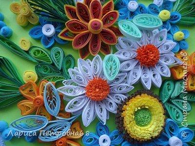 Доброе время суток жители Страны Мастеров !!!  Наступила  весна , солнышко светит  ярче , стало теплее _ и хорошее настроение у моих девочек  Показываю несколько их работ . Такую яркую ,весеннию картинку собрала Сайынова Молдер , а идею подсмотрели у Татьяны Самусевой - огромное ей спасибо за вдохновение фото 9