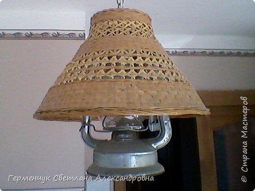 Эту  лампу с абажуром   из соломки  приобрела  в  магазине .Она очень мне приглянулась - легкая ,красивая  и изящная. фото 4