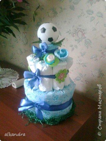 Тортик из памперсов фото 2